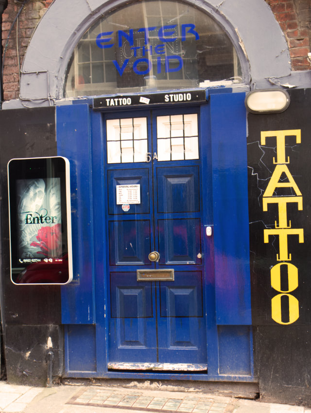 Enter the Void Tattoo Studio front door